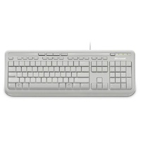 Microsoft Wired Desktop 600 Keyboard White ANB-00034 (Black Letters)