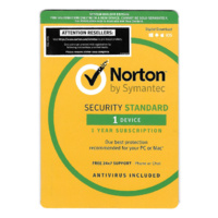 NORTON SERCURITY STANDARD OEM 1 DEVICE 1 YEAR CD MEDIA