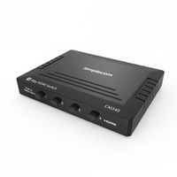 Simplecom CM340 Mechanical 4 Way Manual Push Button HDMI Switch Box 4 Port 4K UHD HDCP