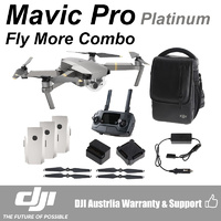 DJI Mavic Pro Platinum 4K UHD Mini Drone with Controller Fly More Combo Kit CP.PT.00000067.01