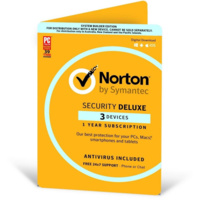 Norton Security Deluxe OEM 3 Devices 1 Year Subscription