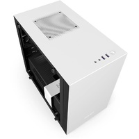 NZXT Mini-ITX White H200i Smart Gaming SFF Case (No PSU) PN CA-H200W-WB